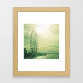 THE GREAT WHEEL, SUNSHINE, OCEAN Framed Art Print