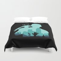 zombies Duvet Covers featuring Sniping Zombies!!! by Foffo