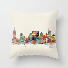 music city tennessee skyline Throw Pillow