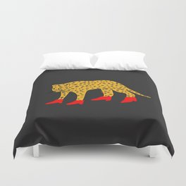 Red Boots Duvet Cover