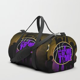It's Game Time - Purple & Gold Duffle Bag