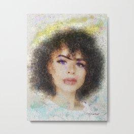 Pretty Black Girl Metal Print