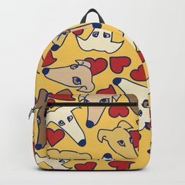 I love greyhounds Backpack