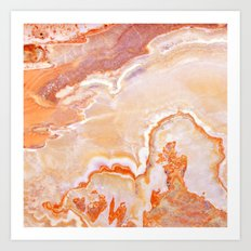 Peach Onyx Marble Art Print