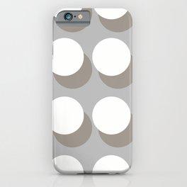 White Balls On A Grey Background #decor #society6 #buyart iPhone Case