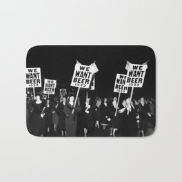We Want Beer Too! Women Protesting Against Prohibition black and white photography - photographs Bath Mat