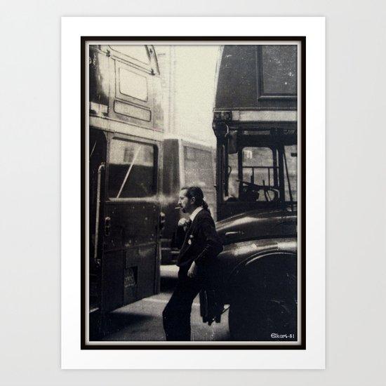 London Bus Driver. Art Print