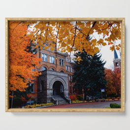 Amazing Fall Days on Campus--Gonzaga Serving Tray