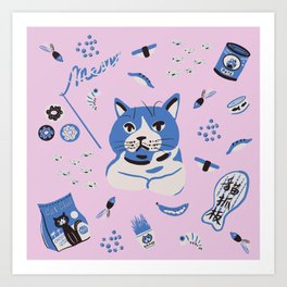 A cat's world Art Print
