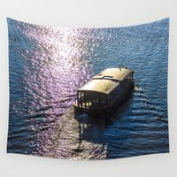 boat Wall Tapestries featuring Boat  by Veronika