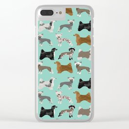 Chinese Crested dog breed variety of coats dog breed dog owner must have gifts for dog person Clear iPhone Case