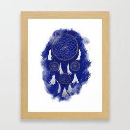 Classic Dreamcatcher: Blue background Framed Art Print