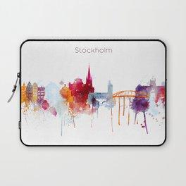 Stockholm Watercolor, Scandinavian capital, Sweden decor Laptop Sleeve