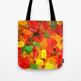 red orange yellow colorful gummy bear Tote Bag