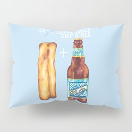 Food Pun - Sexy Chip 'N' Ale Pillow Sham