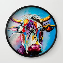 COLORFUL COW Wall Clock