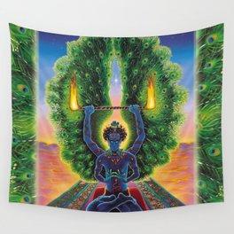 Melek Ta'us (The Peacock Angel) Wall Tapestry