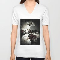 valentine V-neck T-shirts featuring Valentine by Françoise Reina