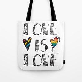 Love Is Love Doodles LGBT Tote Bag