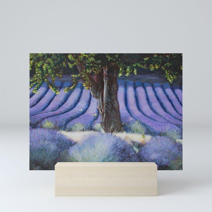Lavender Field with Apple Tree Mini Art Print
