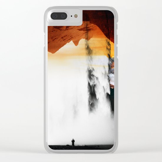 Isolation Waterfall Clear iPhone Case