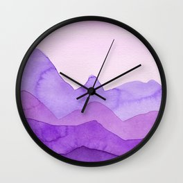 Purple Mountains Wall Clock