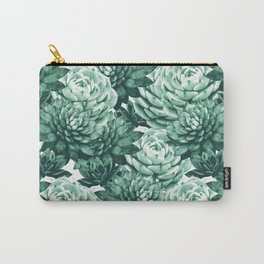 Succulents Pattern #1 #GreenVibes #decor #art #society6 Carry-All Pouch