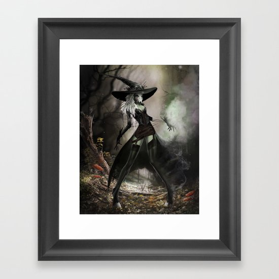 Witch Of Pendle Framed Art Print