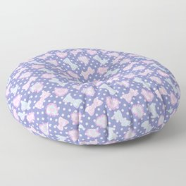 Pretty Baby Brand Whore Allover Pastel Violet Floor Pillow