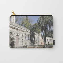 Royal Gardens Reflection - Alcazar of Seville Carry-All Pouch