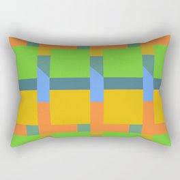 Let's Make Squares (yellow) Rectangular Pillow