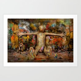 Off the Wall ! Art Print