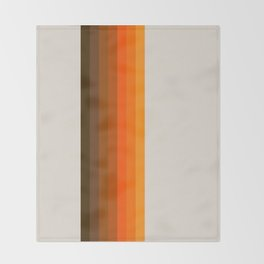 Retro Golden Rainbow - Straight Throw Blanket