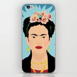 Frida Khalo (Blue) | Bad Ass Women Series iPhone Skin