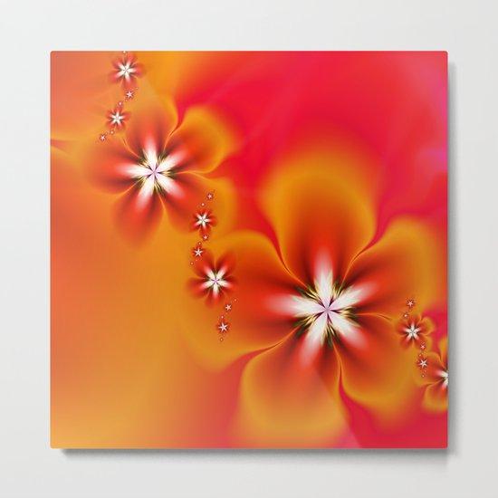 Fleur d'Automne Fractal Metal Print