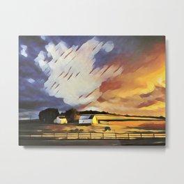 Pastoral Sunset II Metal Print