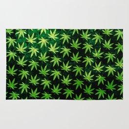 Pot Leaf Pattern Rug