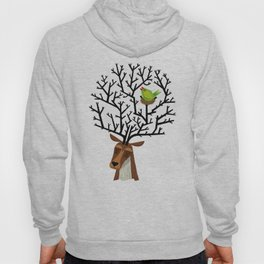 The Tree Stag and The Green Finch Hoody