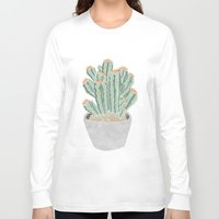 cactus Long Sleeve T-shirts featuring Cactus by Veils and Mirrors