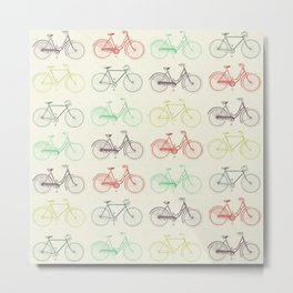 Vintage Bicycles Metal Print