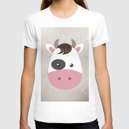 cow cartoon watercolour modern art T-shirt