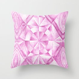 Cobalt Violet Pattern Throw Pillow