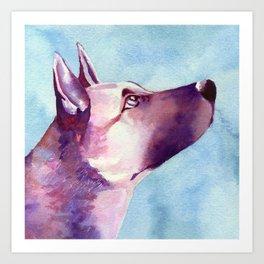 Purple Dog Art Print