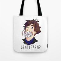 gentleman Tote Bags featuring Gentleman by M-chi