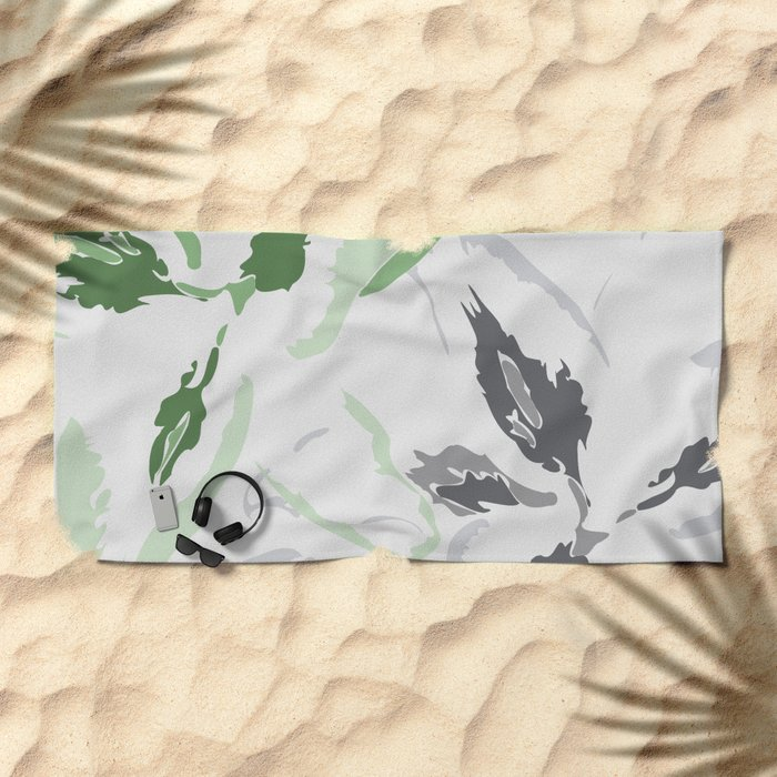 FLORAL ABSTRACTION 2 Beach Towel