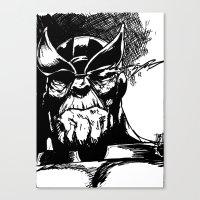 thanos Canvas Prints featuring Thanos by Brandon Gorski