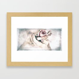 At the End of the Wedding Framed Art Print