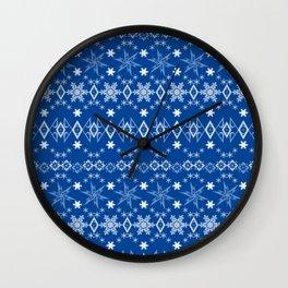 Blue Christmas ornament 2 Wall Clock