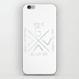 God is greater iPhone Skin