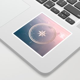 The Edge of Tomorrow - Rosegold Compass Sticker
